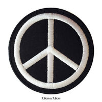 Peace Symbol Embroidered Patch Iron on Sew On Badge For Clothes Bags etc