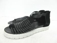 "BCBGMAXAZRIA Runway ""Evon"" Leather Gladiator Flat Sandals in Black Size: 9 B #4"