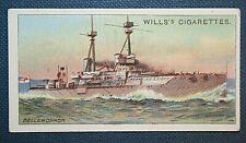 HMS BELLEROPHON  Royal Navy Dreadnought Battleship   Original 1910 Vintage Card