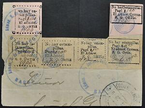 KOLUMBIEN - BARBACOAS großer Briefteil frankiert - extremly rare item !!!