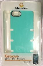 Qmadix Groove Case for iPhone 5 /5s- Blue/White