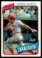 1980 TOPPS JOHNNY BENCH CINCINNATI REDS #100    BUY 20 GET FREE SH