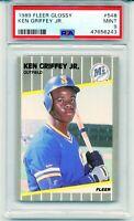 1989 Fleer Glossy KEN GRIFFEY JR. ROOKIE CARD #548 RC Mint Low Pop MINT PSA 9!