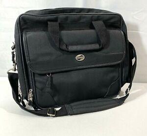 """American Tourister Black 15"""" Laptop/Briefcase Bag 3 Pockets & Shoulderstrap"""