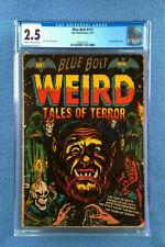 BLUE BOLT #111 CGC 2.5 WEIRD TALES OF TERROR GOLDEN AGE COMIC STAR PUBLICATIONS