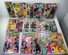 Lot of 17 Uncanny X-men #196-215 Marvel Comics 85-86 Copper Age