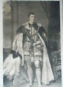 Portrait The  2nd Marquess of Bath KG 1834 Mezzotint by Wm Ward aft Pickersgill