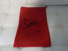 Christian LOUBOUTIN dust bag 9 X 14.25 sleeper shoe storage travel duster red