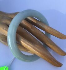 743) antique ICEY CELEDON GREEN Jadite JADE Bangle SMALL Japan Carve SPECTACULAR