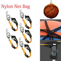 5PCS Useful Nylon Net Bag Ball Carrier For Volleyball Basketball Football Soccer