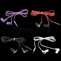 For MP3 MP4 Player PC Flat Wired 3.5mm In-Ear Earphone Headphone Earbud Headset