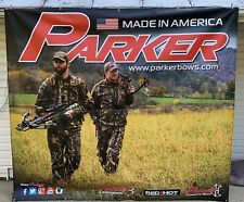 Parker Bows Archery Sign Banner Large 9'x 8' Parker Crossbows Hunting Camouflage