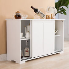 Kitchen Cupboard Buffet Storage Cabinet Sideboard with 2 Sliding Doors &1 Shelf