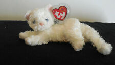 2002 TY Starlet The Kitten Beanie Baby Cat  - Silky White - New with Tag - Mint
