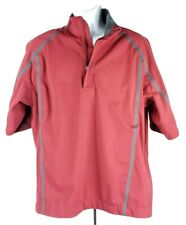Nike Golf Fit-Storm Half Zip Pullover Jacket Top L Red Short-Sleeve