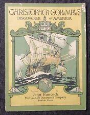 Vintage CHRISTOPHER COLUMBUS John Hancock Life Insurance Co. VG 4.0 Booklet