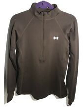 Under Armour Womens Cold Gear Fitted Half Zip Long Sleeve Shirt Medium
