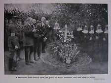 1918 WWI WW1 PRINT ~ DEPUTATION FROM IRELAND GRAVE OF MAJOR REDMOND