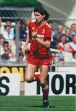 Alan HANSEN SIGNED Autograph Rare Crown Paints Shirt Photo AFTAL COA Liverpool