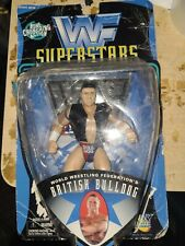 Wwf Superstar British Bulldog Bone Crunching Action box is not the best see pics