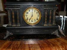 ANTIQUE MANTLE BLACK CLOCK