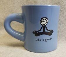 Life Is Good Yoga Meditation Do What You Like What You Do Blue Graphic Mug