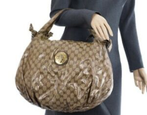 100% Authentic Gucci Hysteria GG Crystal Large Leather Shoulder Bag