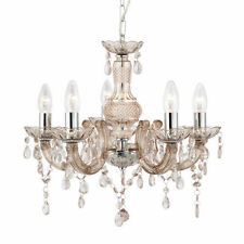 Mink Searchlight Marie Therese 5 Light Chandelier With Acrylic Glass Drops 1455
