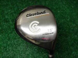 Very Nice Cleveland Launcher Titanium 15 degree 3 Wood Fujikura Vista Pro X Flex