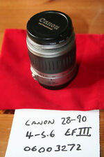 Canon EF III 28-90 MM f:4.0-5.6 Zoom Lens.  Canon Eoes AF Bayonet - VGC