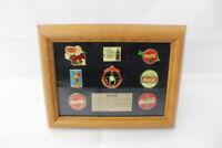 Coca Cola Nostalgia Pin Set Limited Edition 1540 / 2500 Display Case Collectible
