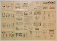 ca. 1920 s GARDEN ARCHITECTURE ILLUSTRATED BROADSIDE MATHEWS MFG CO Cleveland OH