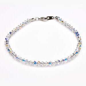 Clear Ab Crystal Anklet using Swarovski Elements