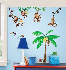 RoomMates Wandsticker Wandtattoo Monkey's Affen Dschungel Palme selbstklebend