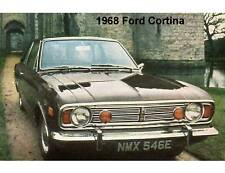 1968 Ford Cortina Auto Refrigerator / Tool Box Magnet Man Cave Gift Card Insert