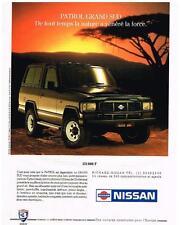 PUBLICITE ADVERTISING   1991   NISSAN    PATROL GRAND SUD