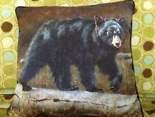 Northwood Woodland Lodge Cabin Wild Bear Pillow Home Decor