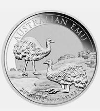2020 Australian Emu 1oz .9999 Silver Bullion Coin - Perth Mint Limited 30,000