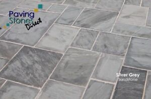 560 Silver Kandla Grey  19.1m2 Indian paving slabs flags   CLEARANCE ✔️