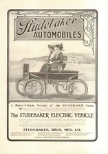 1902 STUDEBAKER   ELECTRIC CAR AD ORIGINAL   VINTAGE