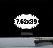 7.62x39 oval vinyl decal sticker gun rifle bullet ammo trigger scope mount