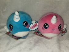 NEW Squeezamals Lot NADIA NARWHALs Unicorn - Series 2 - 3.5 Inch Scented Plush