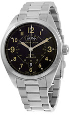 Reloj Hamilton Khaki Field automático para hombre con dial negro 42mm & H70505933 Correa de ss