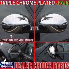 Fits 2011 2012 2013 2014 NISSAN JUKE Triple Chrome Mirror COVERS Overlay Trims