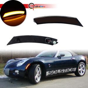 Amber LED Side Marker Turn Signal Lamps For 06-10 Pontiac Solstice & Saturn Sky