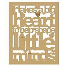It Takes A Big Heart To Help Shape Little Minds Teacher Plaque - 3mm MDF Wooden