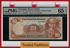 TT PK 135 1979 NICARAGUA 20 CORDOBAS PMG 65 EPQ GEM UNCIRCULATED POP ONE FINEST!