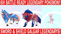 Pokemon Sword & Shield 6IV Mew, Zacian, Zamazenta Battle Ready!!