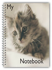 NEW A5 PET ANIMAL NOTEBOOK STANDARD /50 LINED BLANK PAGES NOTE PAD/CAT KITTEN 03
