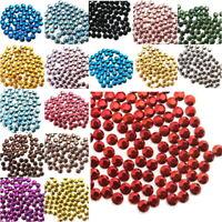 Hotfix Rhinestuds Set 27 Farben 2700stk 2mm Metall-Nieten Octagon Selbstklebend
